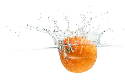Photograph - Splashing Orange by Peter Lakomy
