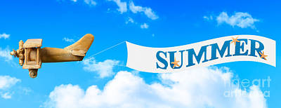 Toy Planes Photograph - Summer Banner by Amanda Elwell