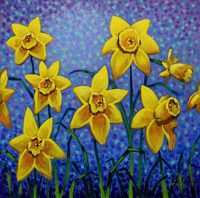 Perspective Painting - Spring Daffodils by John  Nolan