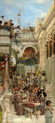 Tadema Painting - Spring by Lawrence Alma-Tadema
