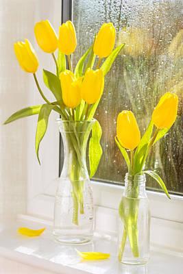 Spring Tulips Art Print by Amanda Elwell