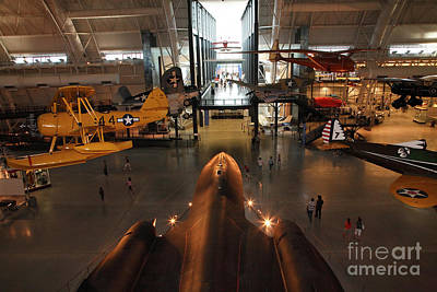 Sr71 Blackbird At The Udvar Hazy Air And Space Museum Art Print