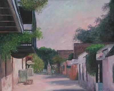 St. Augustine Florida Painting - St. George Street by Patty Weeks