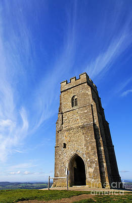 St. Michael Photograph - St Michaels Tower Glastonbury Tor by Robert Preston
