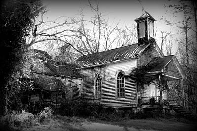 St Simon Church Peak Sc Black And White Art Print by Lisa Wooten