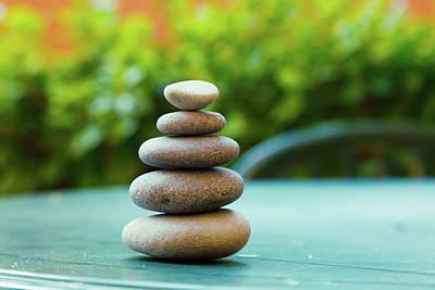 Zen Balance Photograph - Stack Of Pebbles by Wladimir Bulgar