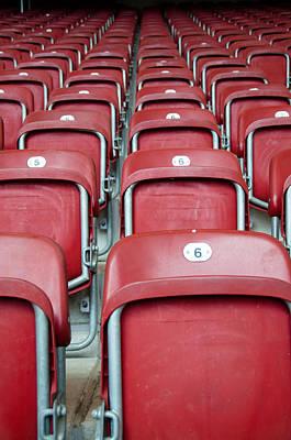 Stadium Seats Art Print