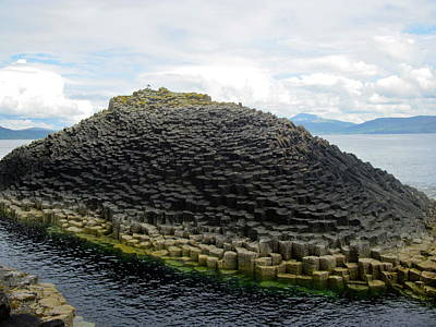 Photograph - Staffa Basalt Rock by Denise Mazzocco