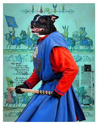 Staffordshire Bull Terrier Painting - Staffordshire Bull Terrier Art Canvas Print by Sandra Sij