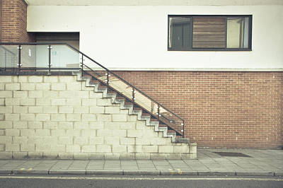 Brick Building Photograph - Stairs  by Tom Gowanlock