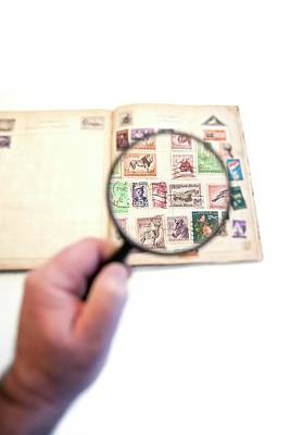 Stamp Collecting Hobby Print by Photostock-israel
