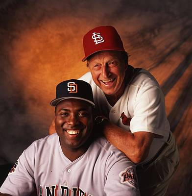 Stan Musial And Tony Gwynn Art Print by Retro Images Archive