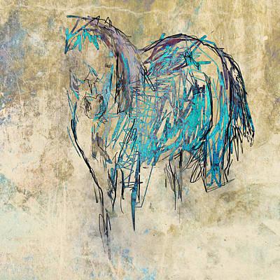 Standing Horse Art Print
