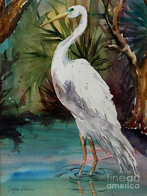 Ibis Painting - Standing Tall by Joyce Allen