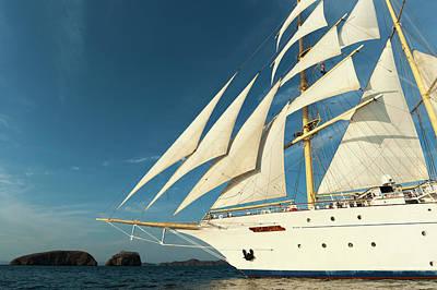 Star Flyer Sailing Cruise Ship, Costa Art Print by Sergio Pitamitz