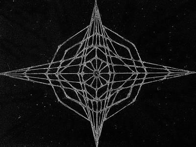 Fractals Digital Art Drawing - Star by Nevena Nikolova