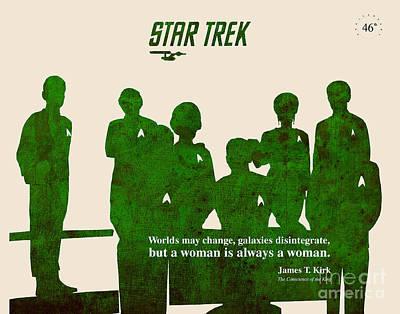 Mccoy Painting - Star Trek Original - Captain Kirk Quote by Pablo Franchi