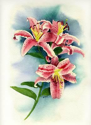 Painting - Stargazer Lilies by Brett Winn
