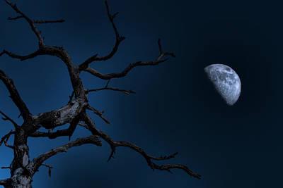 Stark Raving Moon Art Print by Mark Andrew Thomas