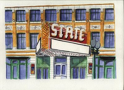 Painting - State Theater by Rodger Ellingson