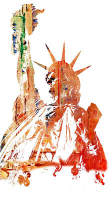 Painting - Statue Of Liberty by Doc Braham