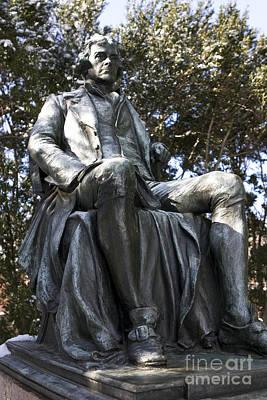 Jason O. Watson Photograph - Statue Of Thomas Jefferson Sitting by Jason O Watson