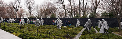 Korean War Photograph - Statues Of Soldiers At A War Memorial by Panoramic Images