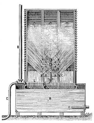 Boiler Photograph - Steam Engine Condenser by Science Photo Library