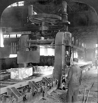 Conveyor Belt Painting - Steel Factory, C1907 by Granger