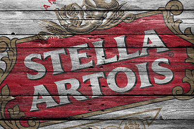 Handcrafted Photograph - Stella Artois by Joe Hamilton