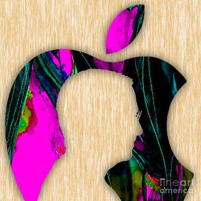 Apple Mixed Media - Steve Jobs Art by Marvin Blaine