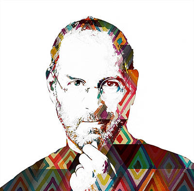 Fame Painting - Steve Jobs by Celestial Images