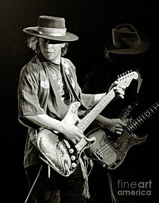 Harvard Photograph - Stevie Ray Vaughan 1984 by Chuck Spang