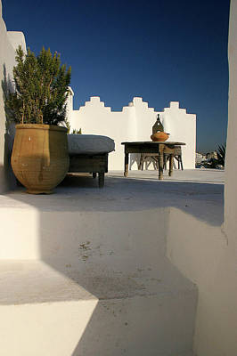 Still Life On A Roof Terrace Old Medina Tangier Morocco Art Print by PIXELS  XPOSED Ralph A Ledergerber Photography