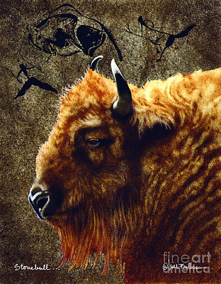 Cave Painting - Stonebull by Will Bullas
