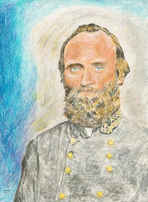 Stonewall Drawing - Stonewall Jackson by Dennis Larson