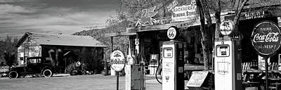 Old General Store Photograph - Store With A Gas Station by Panoramic Images