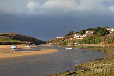 Photograph - Storm Approaches The Gannel Estuary Newquay Cornwall by Nicholas Burningham