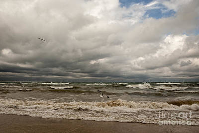 Soap Suds - Stormy Lake Michigan by Michael Shake