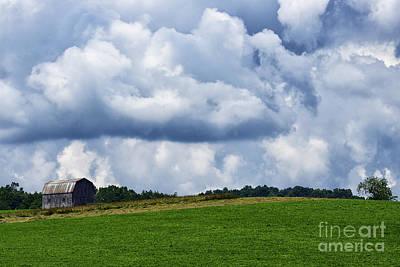Stormy Sky And Barn Art Print