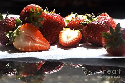 Photograph - Strawberries by Kathy Flood