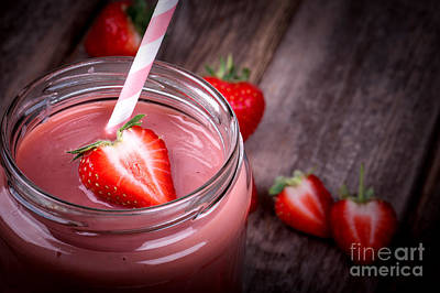 Strawberry Photograph - Strawberry Smoothie by Jane Rix