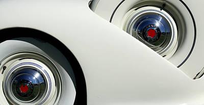 Car Detail Photograph - Streamlined In White by Joe Kozlowski