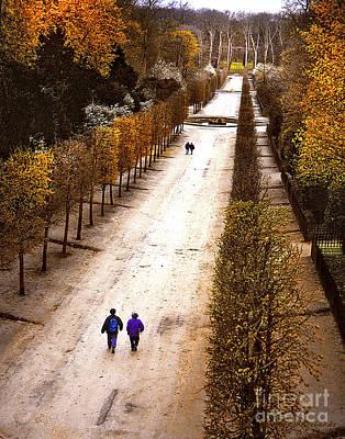 Strolling Versailles Art Print by Barbara D Richards