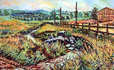 Expressionist Creek Oil Painting - Stroubles Creek by Kendall Kessler