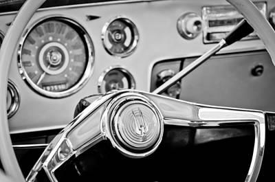 Photograph - Studebaker Steering Wheel Emblem by Jill Reger