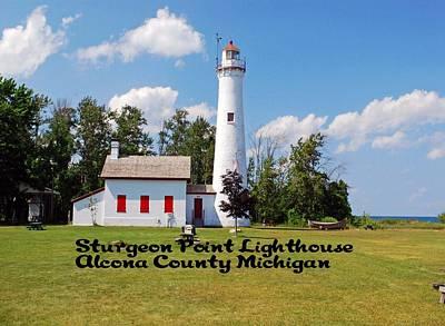 Photograph - Sturgeon Point Light House by Gary Wonning