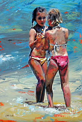Girl Painting - Summer Days IIi by Claire McCall