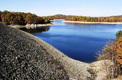 Summersville Lake Autumn Art Print by Thomas R Fletcher