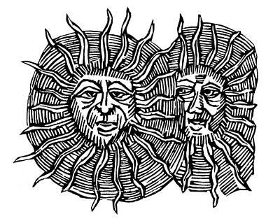 Sun Face, Decorative Print by Granger